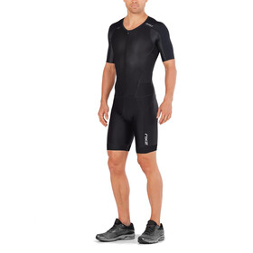 2XU Perform Full Zip Sleeved Trisuit Men black/black